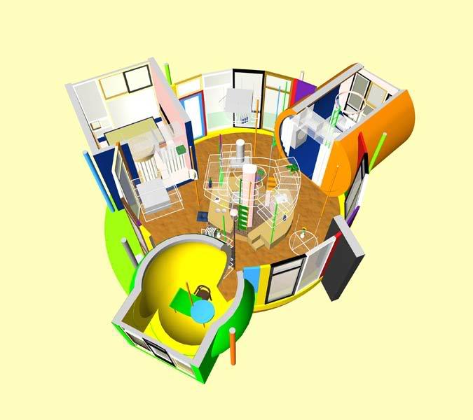 Loft Apartments Augusta Ga: Reversible-Destiny Lofts By Arakawa & Gins