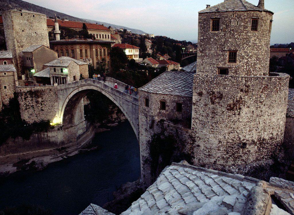 Stone Arch Bridge Design Mostar Bridge, Bosnia ...