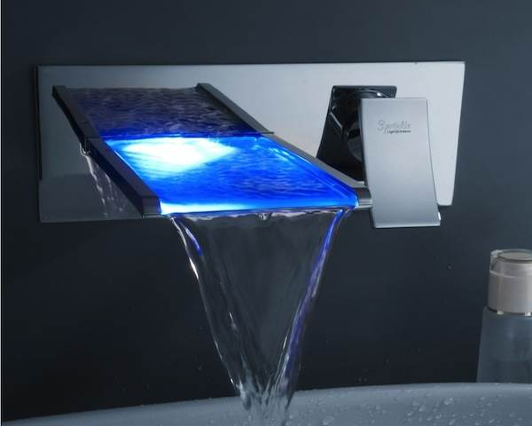 Led Waterfall Bathroom Sink Faucet Icreatived