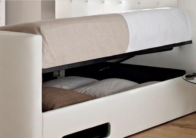 Groovy Atlantis Leather Ottoman Tv Bed Icreatived Machost Co Dining Chair Design Ideas Machostcouk