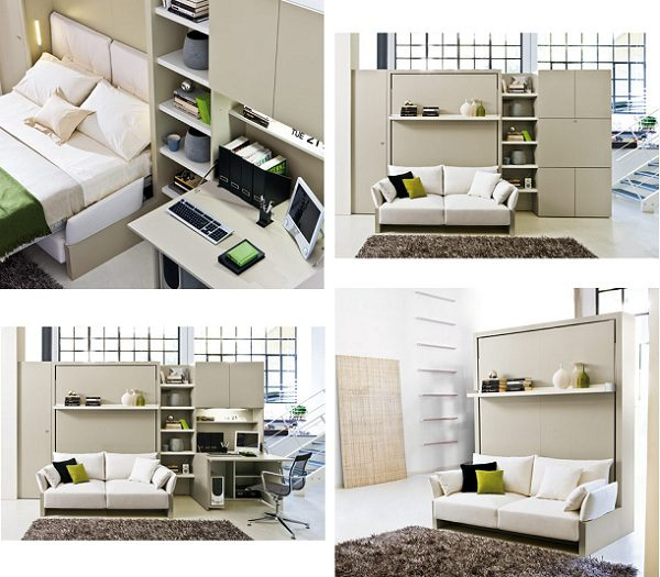 Space saving bed nuovoliola 10 icreatived for Living room icd 10