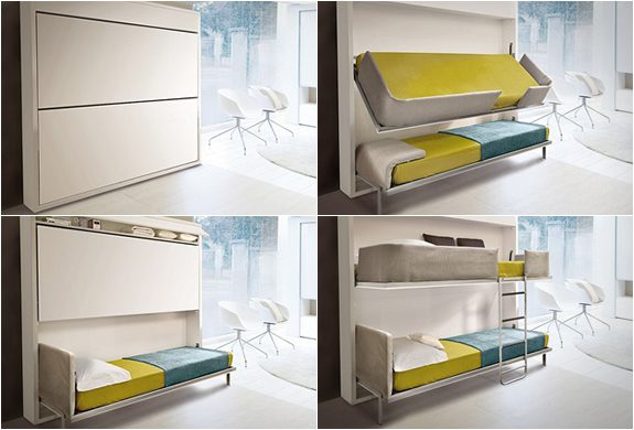 Pull Down Bunk Bed By Giulio Manzoni Icreatived