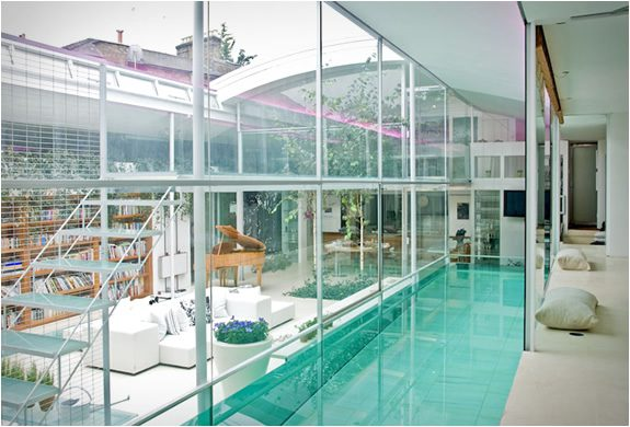 Internal glass swimming pool icreatived for Swimming pool plans for sale