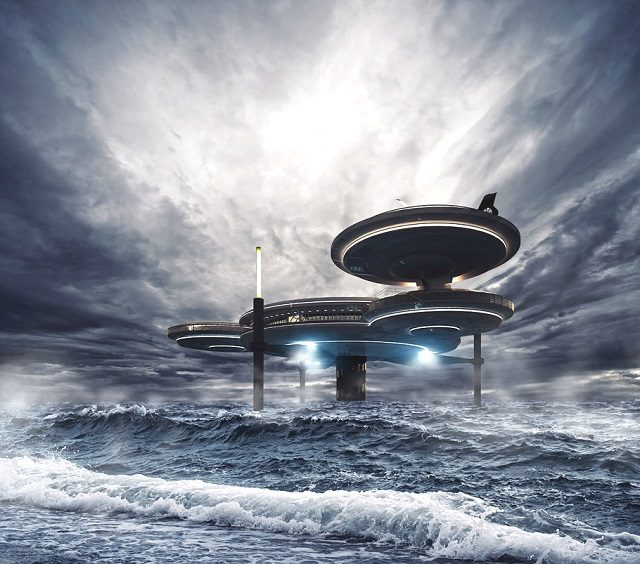 Luxury Underwater Disc Hotel, Dubai_