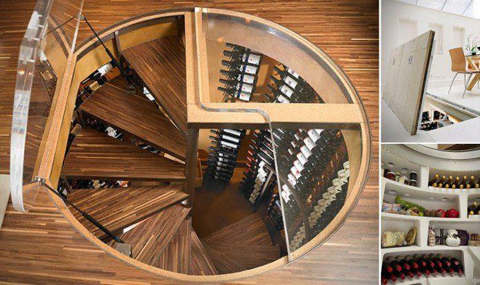 Spiral Wine Cellar Storage Icreatived