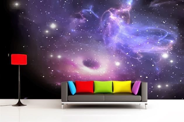 galaxy wallpaper wall mural icreatived