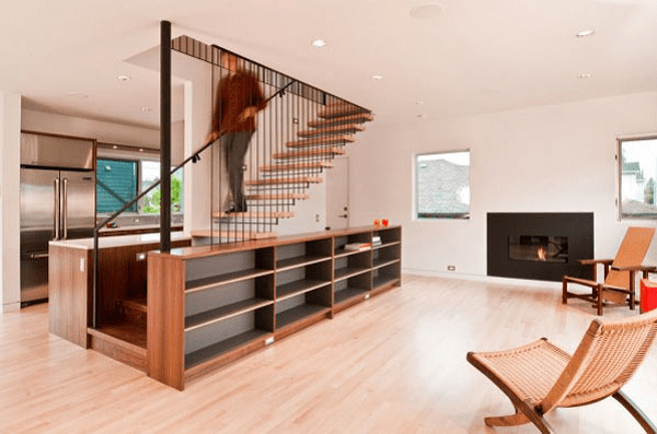 Space saving staircase designs icreatived for Space saving interior designs