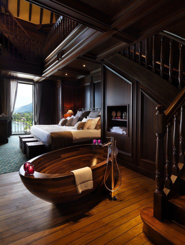 Unique Wooden Bathtub Design ICreatived - Unique house interior design