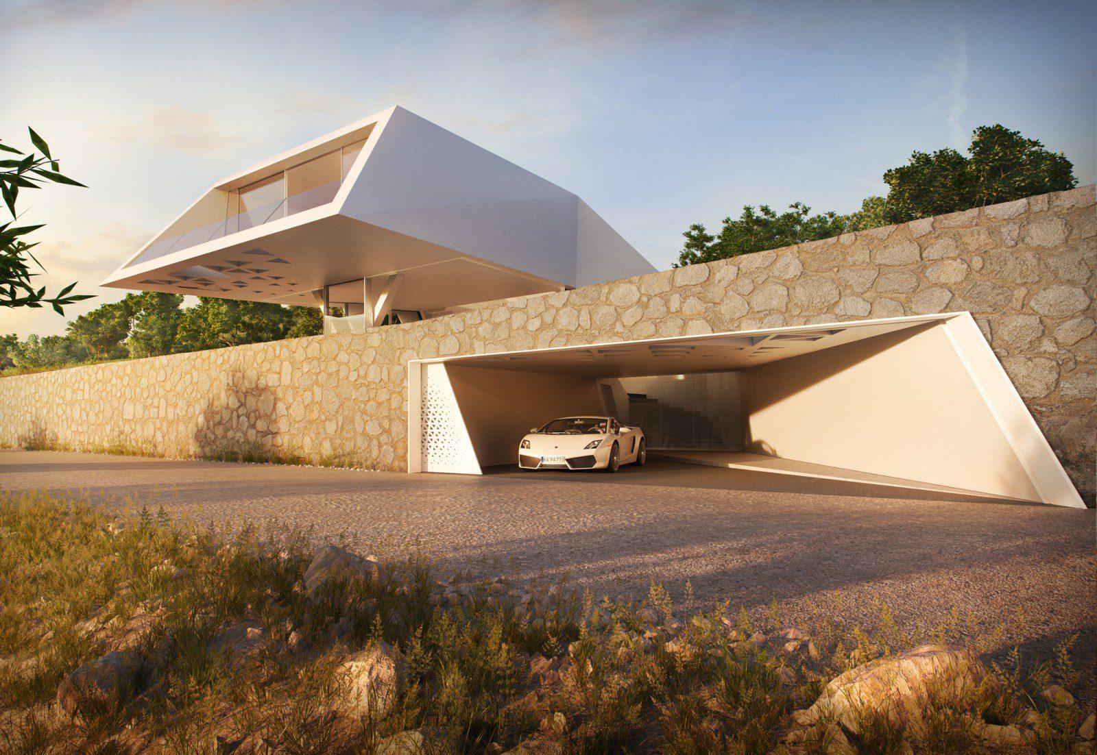 F ressidence modern villa icreatived for Architecture villa