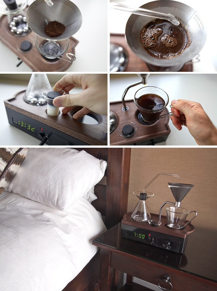 An Amazing Alarm Clock That Makes Coffee