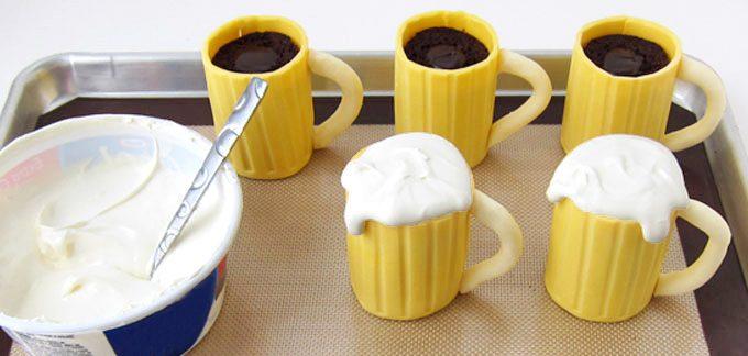 Baileys Filling Beer Mug Cupcakes Icreatived