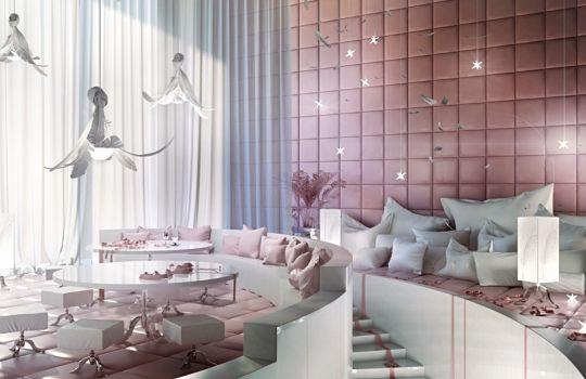 die bedeutung der rosa farbe in den schlafzimmern dekorationen. Black Bedroom Furniture Sets. Home Design Ideas