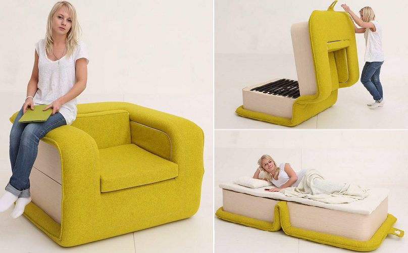 hide a bed chair Multifunctional Arm Chair With a Bed Attached   iCreatived hide a bed chair