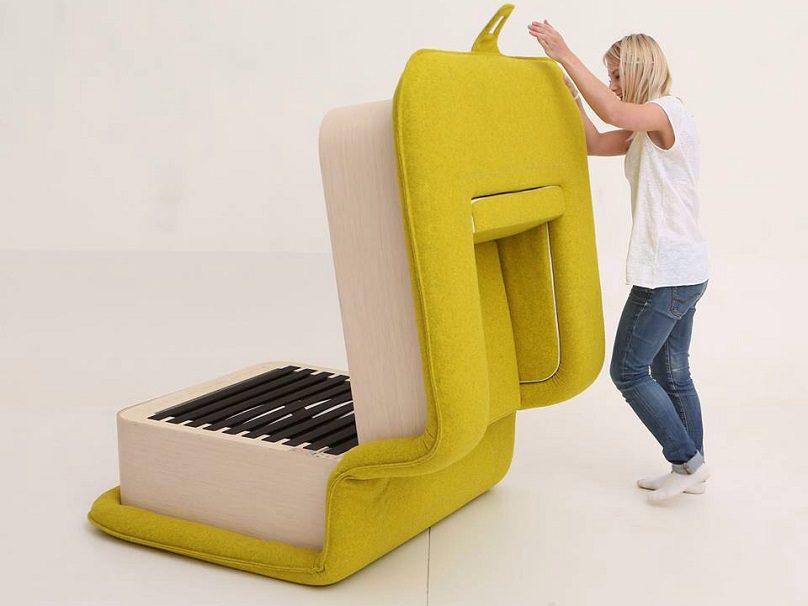 Multifunctional Arm Chair With A Bed Attached Icreatived