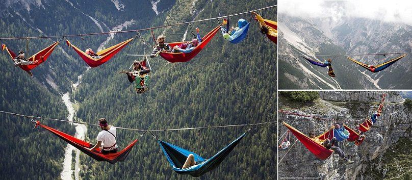 People At This Festival Sleep In Hammocks Hundreds Of Feet