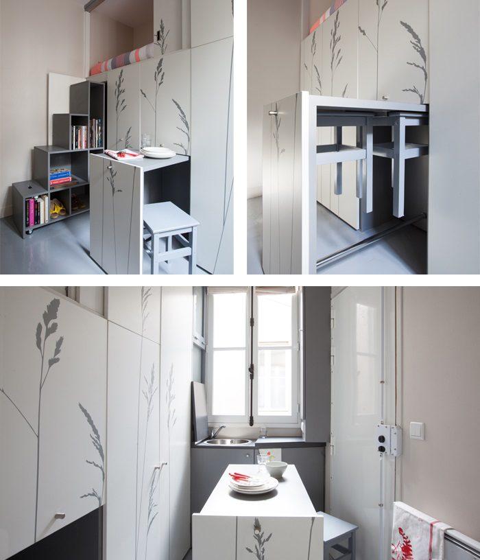8 Sqm Parisian Apartment With Hidden Facilities Icreatived