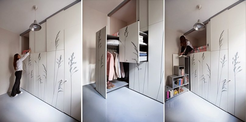 8 Sqm Parisian Apartment With Hidden Facilities Icreatived