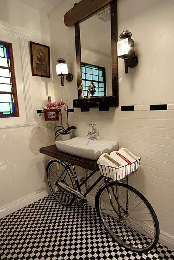 Bicycle Into Sink Stand