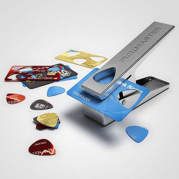 Credit Cards Into Guitar Picks