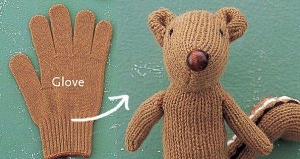 Glove Into a Chipmunk Photos by Miyako Toyota Happy Gloves
