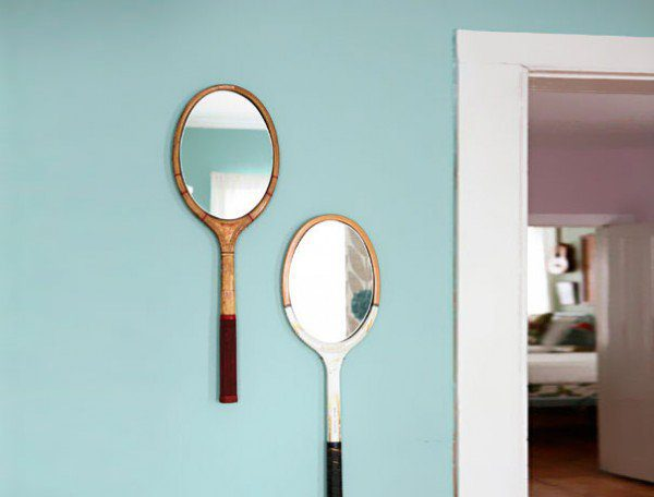 Tennis Rackets Into Mirrors