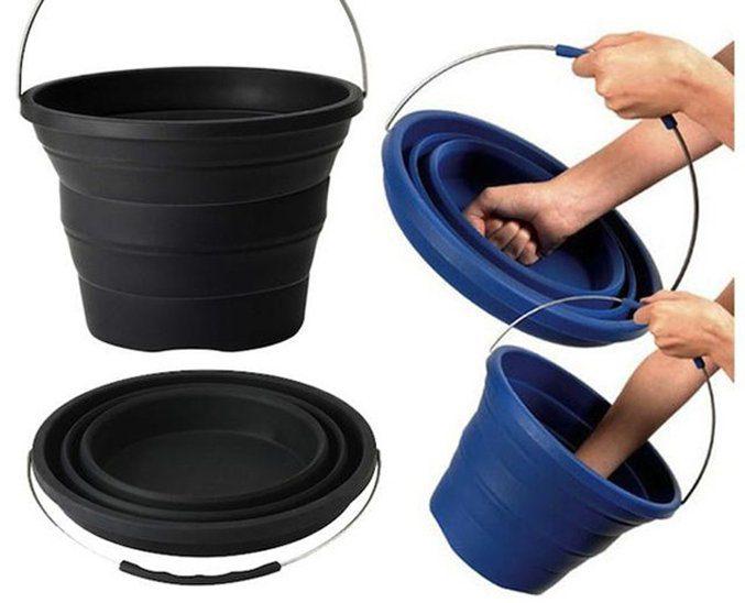 The Pack-Away Bucket Folds Flat