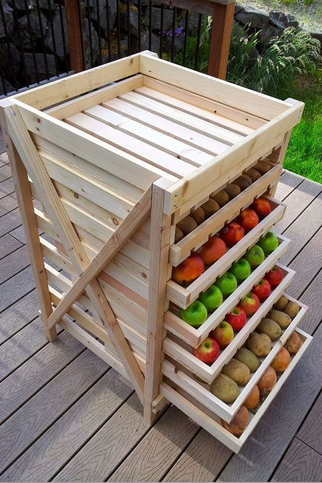 12 Storage Ideas For Fruits and Vegetables 4