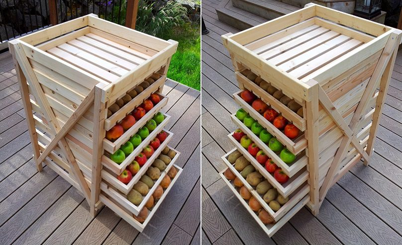Изделия из ящиков для фруктов своими руками 59