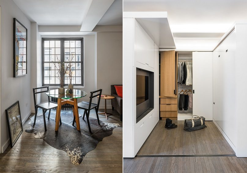 The Five to One Apartment Containing the functional and spatial elements within a compact 390 Sf 12