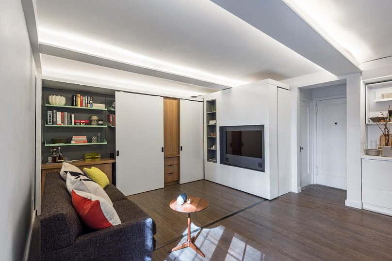 The Five to One Apartment Containing the functional and spatial elements within a compact 390 Sf 2