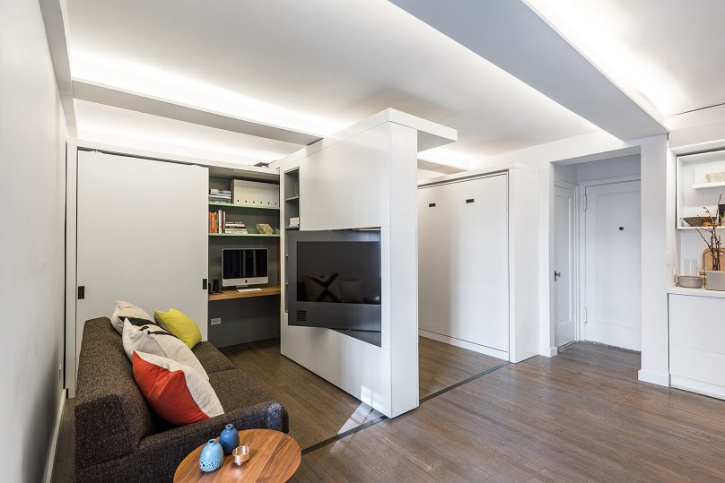 The Five to One Apartment Containing the functional and spatial elements within a compact 390 Sf 3