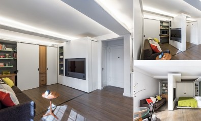 The Five to One Apartment Containing the functional and spatial elements within a compact 390 Sf
