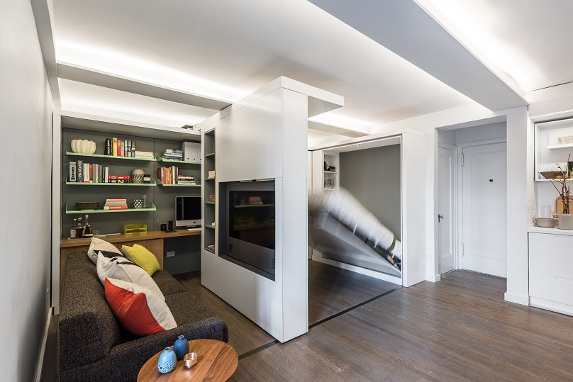The Five to One Apartment Containing the functional and spatial elements within a compact 390 Sf 4
