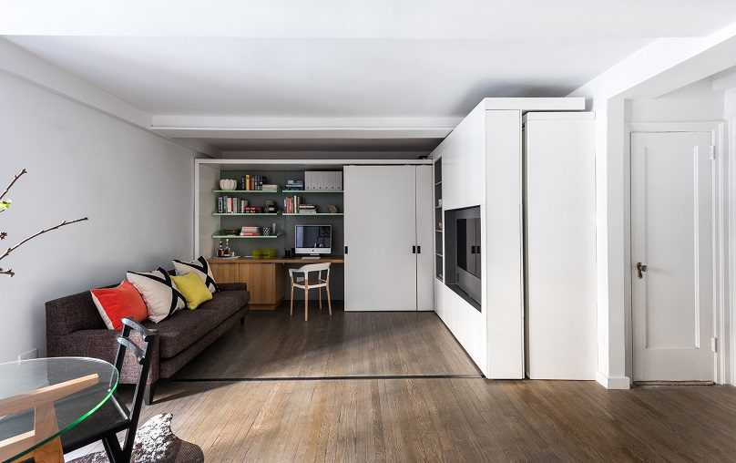 The Five to One Apartment Containing the functional and spatial elements within a compact 390 Sf 5