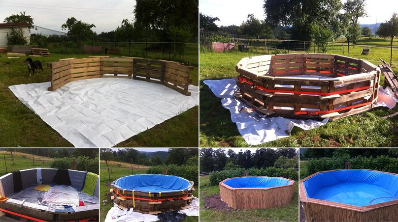 A Beautiful Swimming Pool Created With 10 Pallets | iCreatived