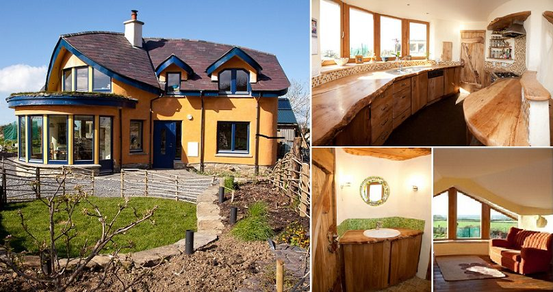 Beautiful House Made Of Mud And Wood