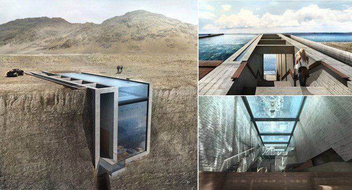 Conceptual Cliffside Casa Brutale On The Aegean Sea