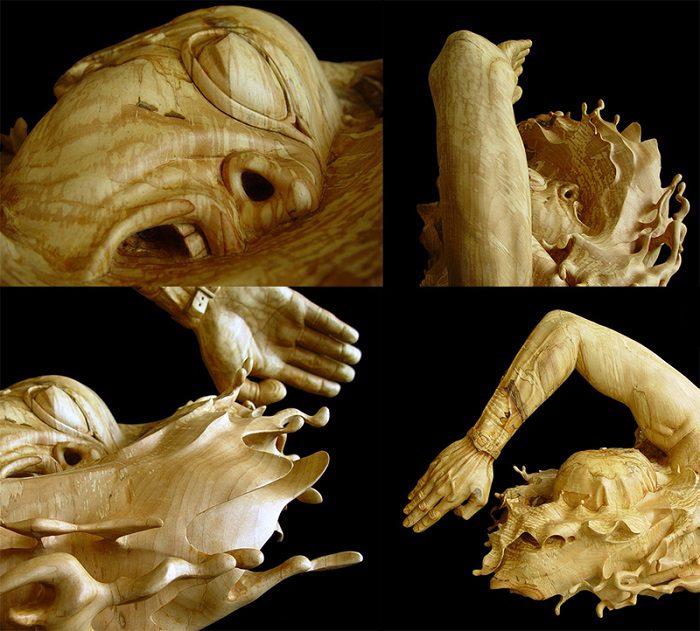 Figurative Wooden Sculptures by Stefanie Rocknak 3