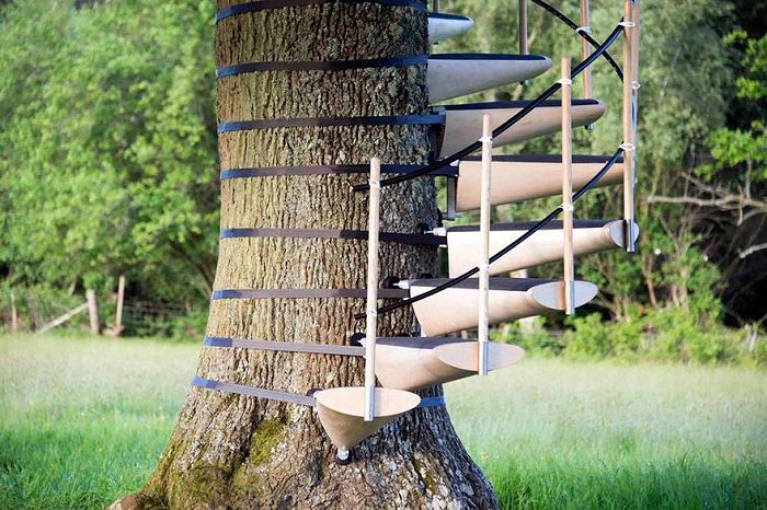 Spiral Staircase For Your Backyard Tree 3