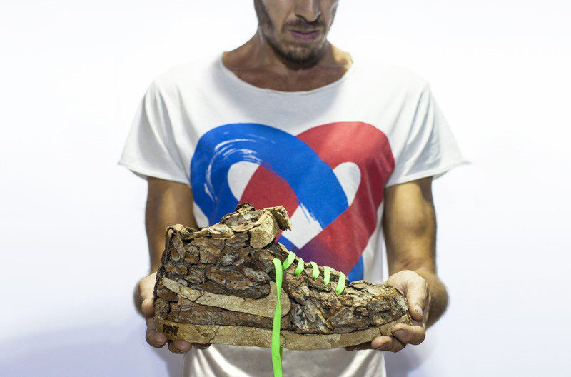 French Artist Monsieur Plant Combines Sneakers With Nature 1