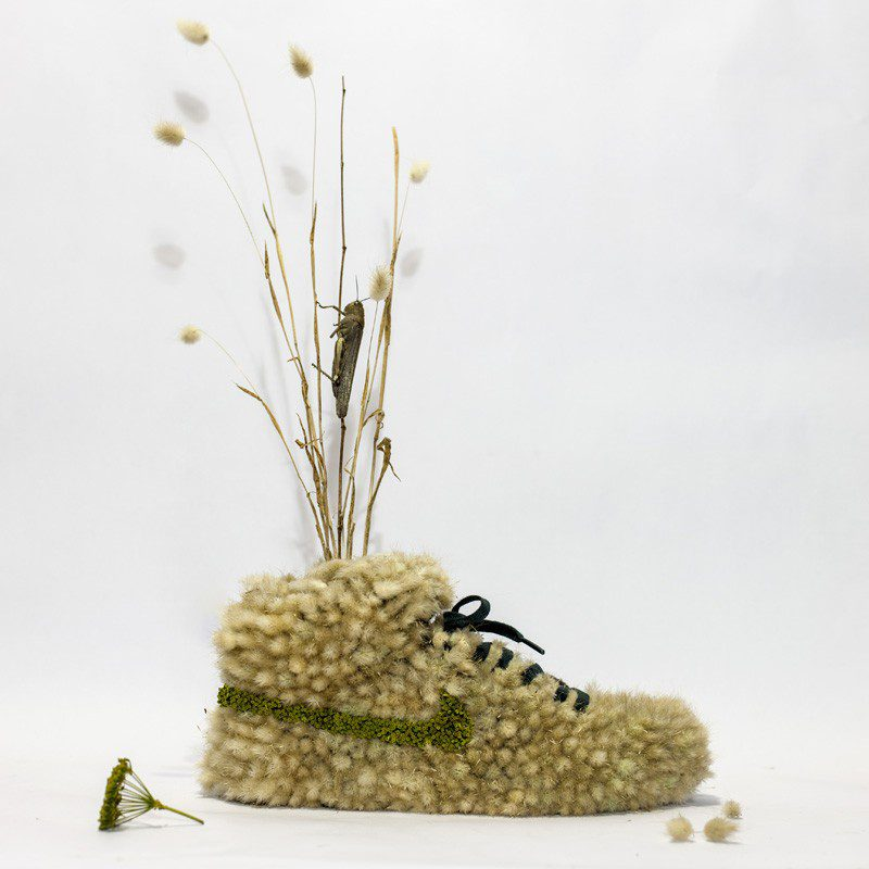 French Artist Monsieur Plant Combines Sneakers With Nature 7