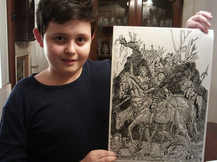 11-Year-Old Artist Creates Amazingly Detailed Drawings of Wildlife 3