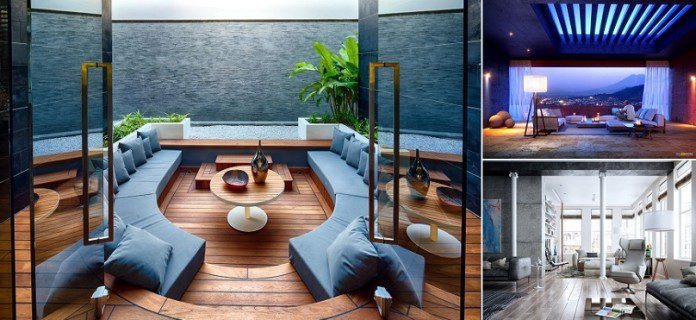 25 modern living rooms with cool and clean lines icreatived for Cool modern living rooms