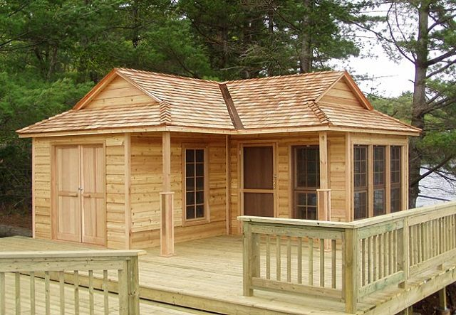 Compact 12 x 18 Wood Cottage 1