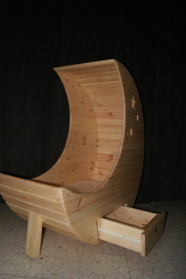 Cozy Baby Crib With Moon Shape Icreatived