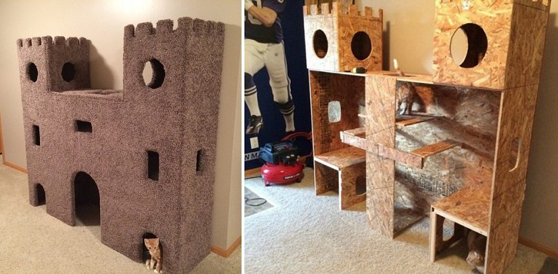 Diy Plywood Cat Castle Icreatived