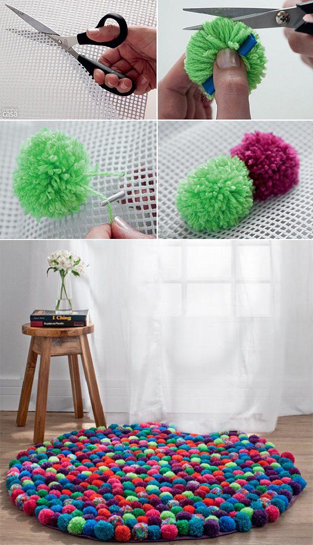 DIY Pompom Rug_