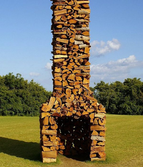 Different type of art stacking firewood icreatived