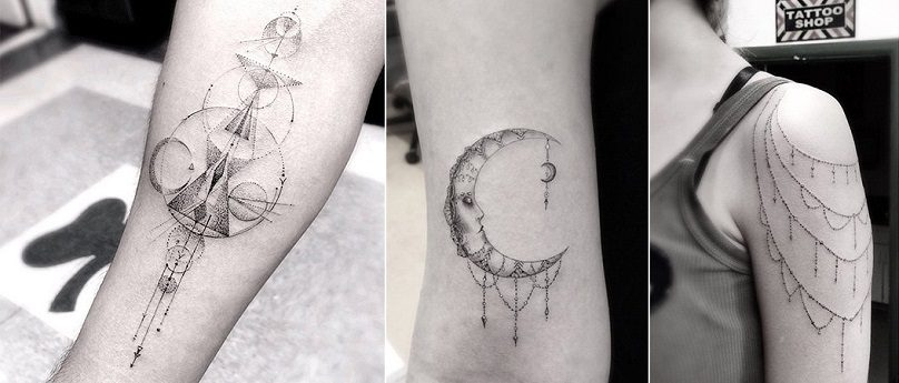Wonderful Geometric And Linear Tattoos By Dr Woo Icreatived