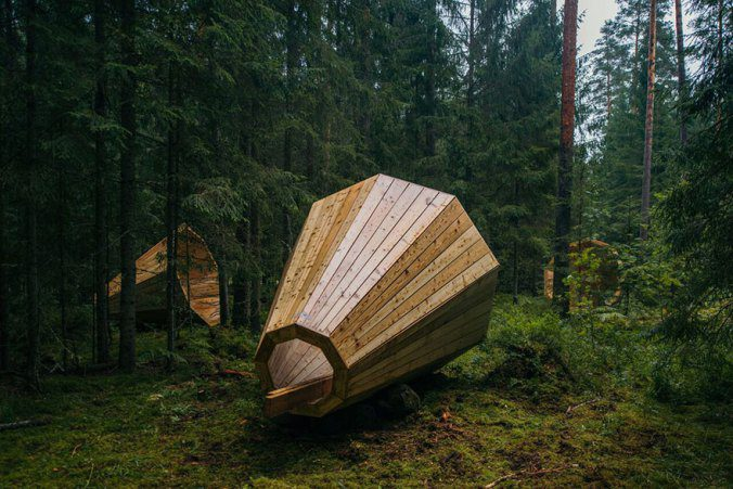 Giant Wooden Megaphones In A Forest To Amplify The Sounds Of Nature 1